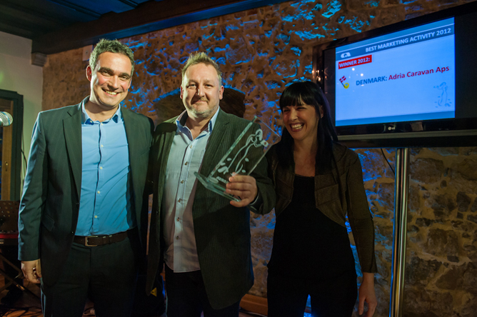 "I 2012 modtog ADRIA DANMARK en AWARD for ""Bedste markedsføring""."